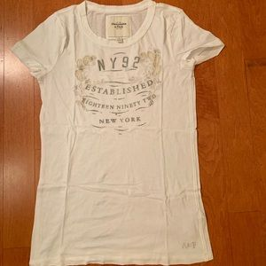 abercrombie and fitch t-shirt, white, small